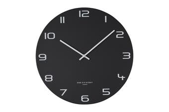 NERO 60cm Silent Wall Clock by One Six Eight London