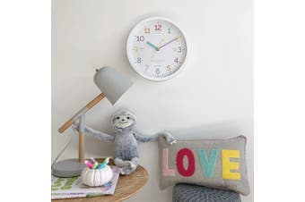 LEARN THE TIME White 30cm Silent Wall Clock by One Six Eight London