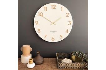 KATELYN White 60cm Metal Wall Clock by One Six Eight London