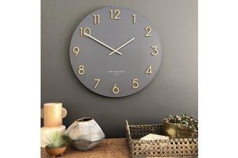 KATELYN Charcoal Grey 40cm Metal Wall Clock by One Six Eight London