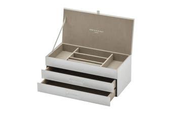 GABRIELLA White Large Jewellery Box by One Six Eight London