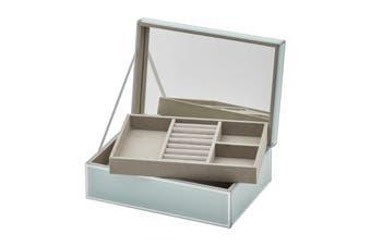SARA Mint Large Jewellery Box by One Six Eight London