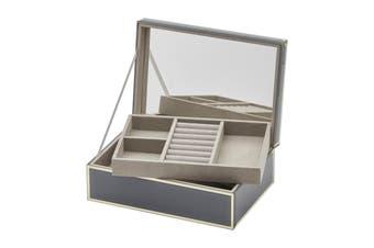 SARA Grey Large Jewellery Box by One Six Eight London