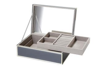 SARA Grey Large Jewellery Box by One Six Eight London