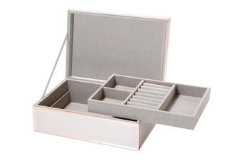 SARA Blush Large Jewellery Box by One Six Eight London