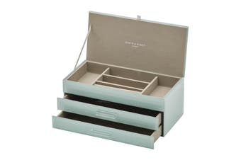 GABRIELLA Mint Large Jewellery Box by One Six Eight London
