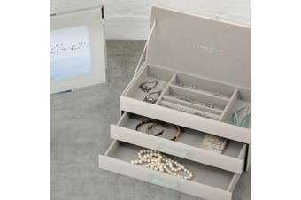 GABRIELLA Off White Large Jewellery Box by One Six Eight London