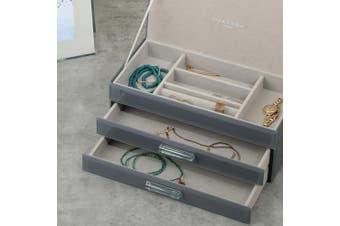GABRIELLA Grey Large Jewellery Box by One Six Eight London