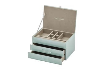 GABRIELLA Mint Medium Jewellery Box by One Six Eight London