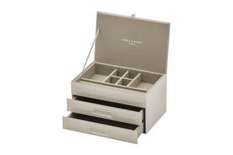 GABRIELLA Off White Medium Jewellery Box by One Six Eight London