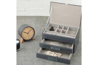 GABRIELLA Grey Medium Jewellery Box by One Six Eight London