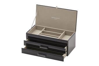 GABRIELLA Black Large Jewellery Box by One Six Eight London