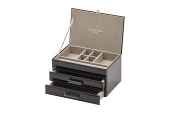 GABRIELLA Black Medium Jewellery Box by One Six Eight London