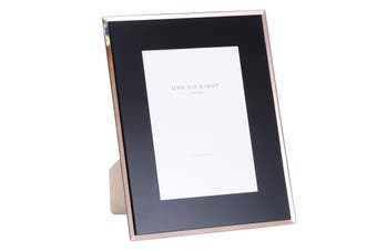 7 x 5 Black / Rose Gold Glass Photo Frame by One Six Eight London