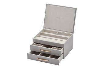 STACEY Cool Grey Large Jewellery Box by One Six Eight London