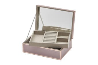 SARA Dusty Rose Large Jewellery Box by One Six Eight London