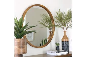TINA 80cm Dark Solid Wood Mirror by One Six Eight London