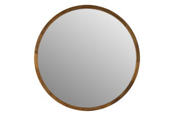 TINA 60cm Dark Wood Solid Wood Mirror by One Six Eight London
