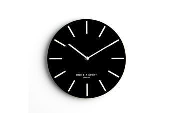 CHLOE Black 30cm Silent Wall Clock by One Six Eight London