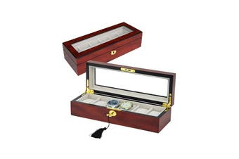 31MADISON Elegant 6 Slot Watch Box