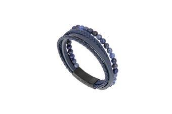 31MADISON Blue Multi Leather & Bead bracelet