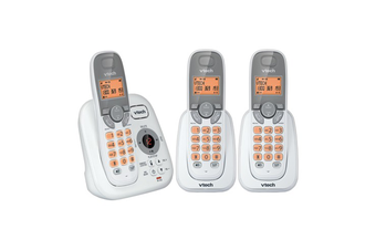 VTech 17250 DECT Triple Handset Cordless Phone Answer Machine Handsfree White