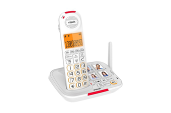 VTech 17450 CareLine DECT6.0 Cordless Phone with VSmart Technology White