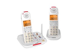 VTech 17450 CareLine DECT6.0 2-Handset Cordless Phone with VSmart Tech White