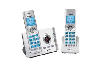 VTech 17550 DECT 6.0 Twin Handset Cordless Phone Handsfree Mobile Connect