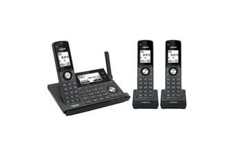 VTech 17850 3-Handset Long Range DECT360 Cordless Phone MobileConnect Black