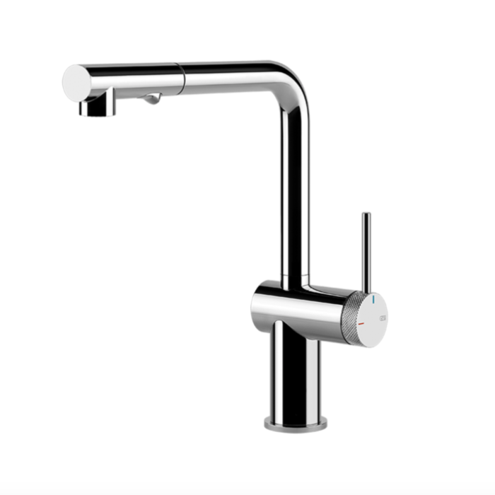 Inedito Pull Out Dual Function Kitchen Mixer Chrom Inedito Pull Out Dual Function Kitchen Mixer Chrome  Pull Out: Yes  WELS Rating: 5 Star 5.0L/min  WELS Registration Number: T37481  Max Operating Pressure: 500KPA
