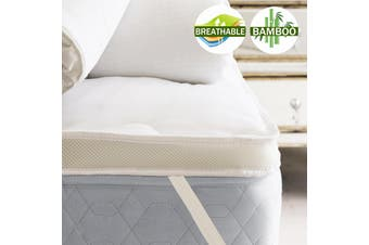 Airmax Bamboo Mattress Toppers 1000GSM Machine Washable (Double)