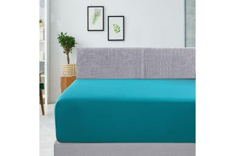 400TC Bamboo Cotton Fitted Sheet (Queen, Teal)