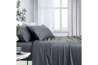 1000TC Bamboo Cotton Bed Sheet Sets (Charcoal)