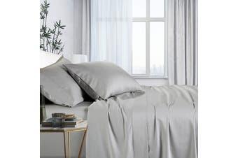1000TC Bamboo Cotton Bed Sheet Sets (Silver)