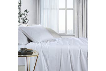 1000TC Bamboo Cotton Bed Sheet Sets (White)