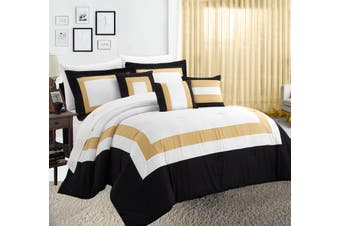 10PC Comforter with Sheet Set  (Gold)