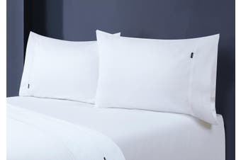 1000TC Egyptian Cotton Fitted Sheet with Pillowcase Pack (Mega Queen, White)