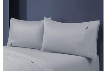 1000TC Egyptian Cotton Fitted Sheet with Pillowcase Pack (Silver)