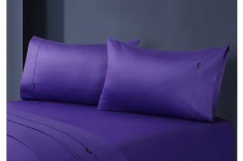 1000TC Egyptian Cotton Fitted Sheet with Pillowcase Pack (Violet)