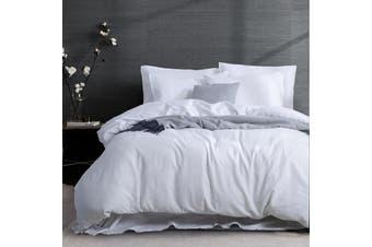 3PC Linen Cotton Quilt Cover Sets (White)