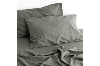 Linen Cotton Sheet Set (Grey)