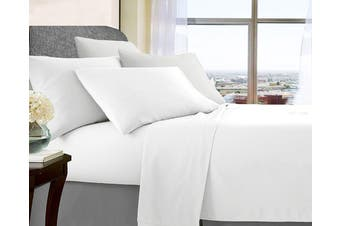 Soft Brushed Microfibre Sheet Sets (White)