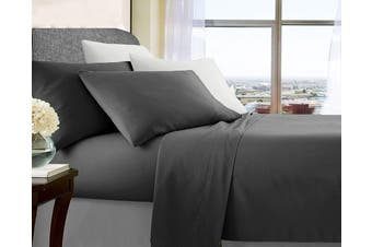 Soft Brushed Microfibre Sheet Sets (Charcoal)