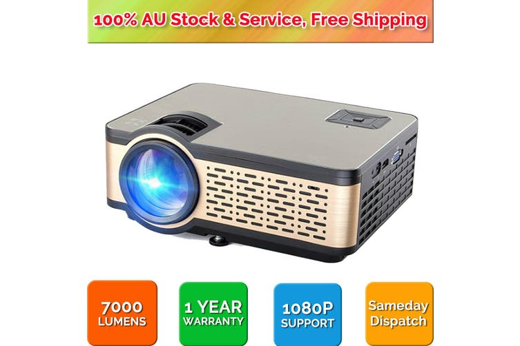 Native 720P with HiFi Speaker Video Projector Support 1080P Display for Home Theater Entertainment HDMI SD AV VGA USB