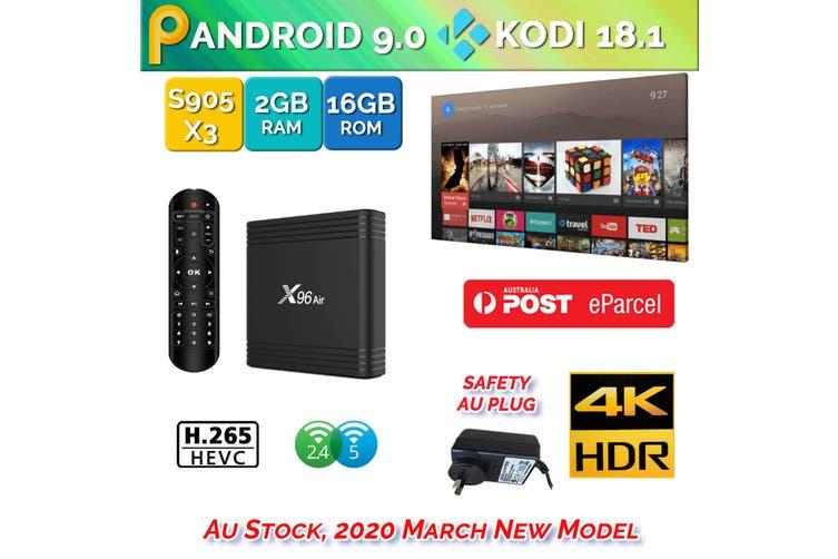 X96 Air Android 9.0 TV Box 2GB 16GB USB 3.0 4K H.265 KD18.2 Smart Streaming Media Player