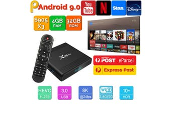 X96 Air Android 9.0 TV Box 4GB 32GB USB 3.0 BT4.1 2.4G 5G Dual WiFi 3D 4K H.265 KD18.2 Smart Streaming Media Player