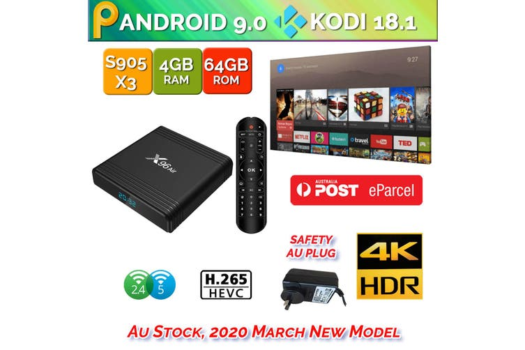 X96 Air Android 9.0 TV Box 4GB 64GB USB 3.0 BT4.1 2.4G 5G Dual WiFi 3D 4K H.265 KD18.2 Smart Streaming Media Player