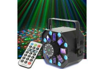 CR Lite Mix laser II 4-in-1 LED Lighting Effect with Strobes Laser Wash SwarmFX