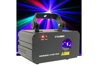 CR Laser Drawing Star RGB 800W Full Color Laser Auto Sound DMX Single Patterns and Grating Effect Party Disco Stage